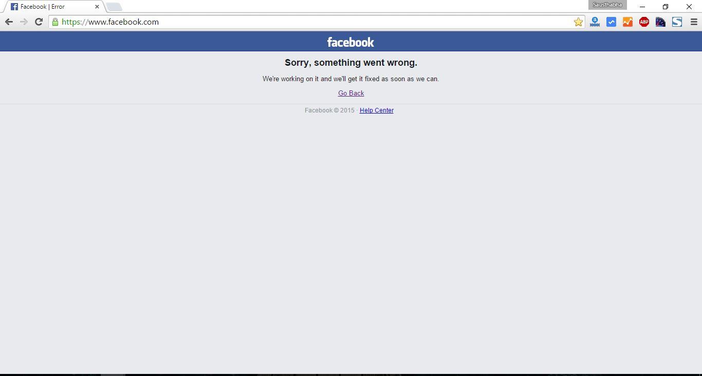 facebook service down