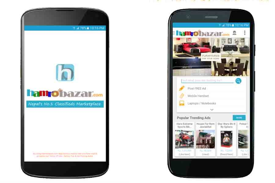 hamrobazar app online classified nepal best top must have nepali app online shopping