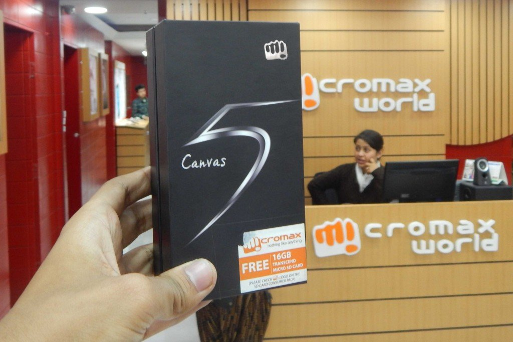 Micromax Canvas 5 Box Packaging|| 16GB Free SD Card