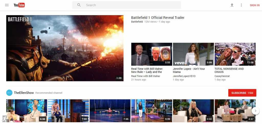 Material Design Youtube