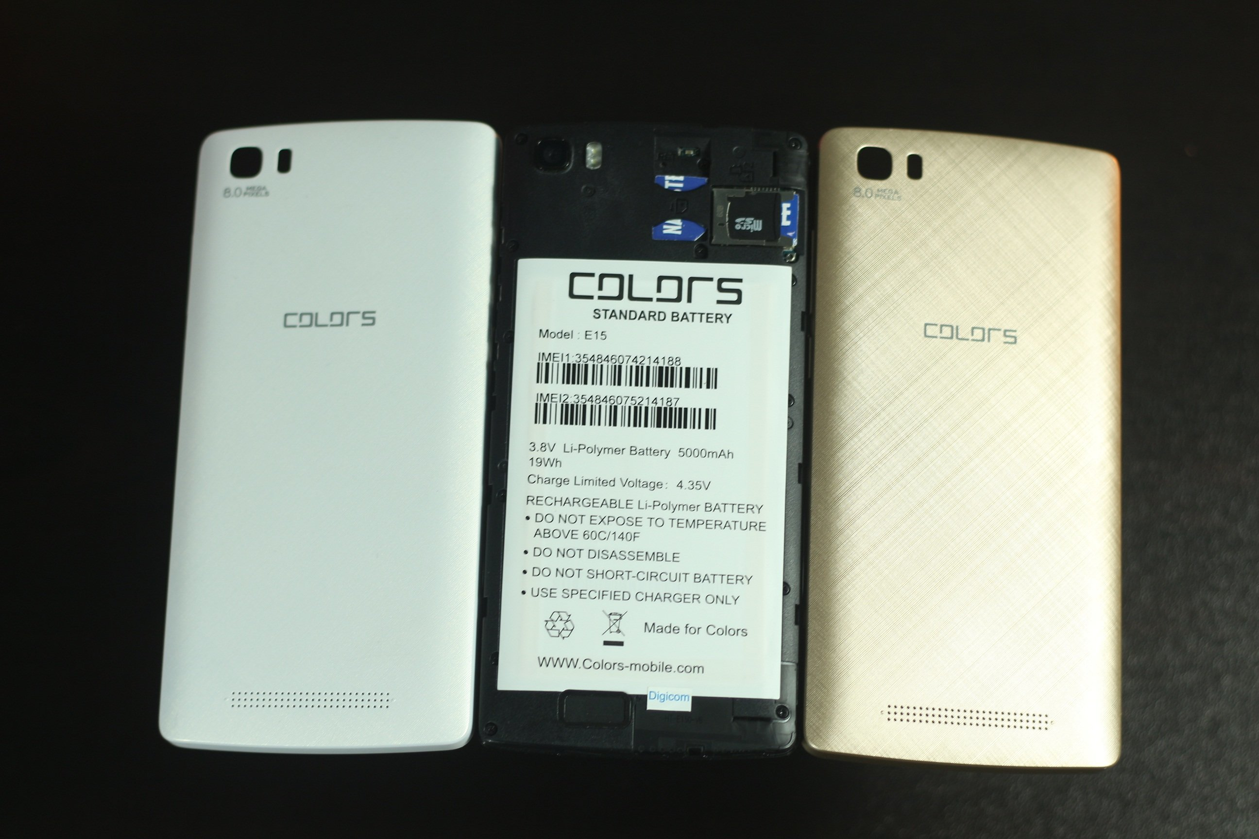 colors elite e15 back covers