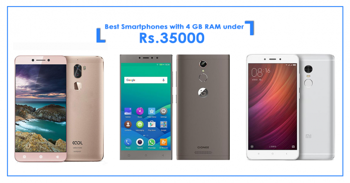 Best smartphones with 4GB RAM under Rs.35000 in Nepal