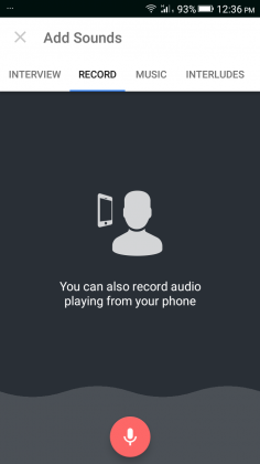 Record Audio Page
