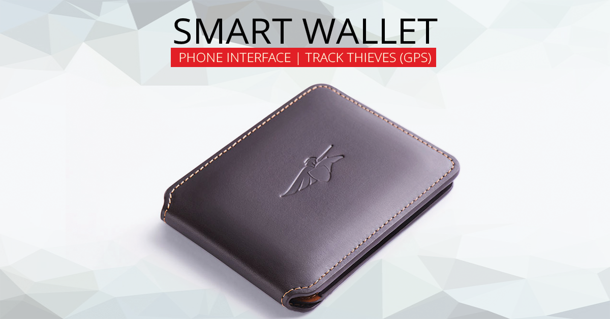 This Smart Wallet Interfaces With Your Phone And Track