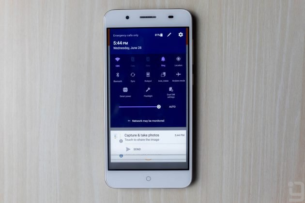 ZTE Blade A2 Plus Quick Settings Panel