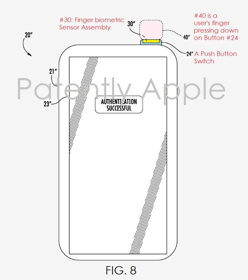 touch id on powerbutton patent gadgetbyte nepal