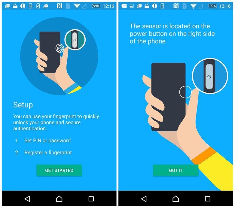 z5 fingerprint sensor sensor settings screenshot gadgetbyte nepal