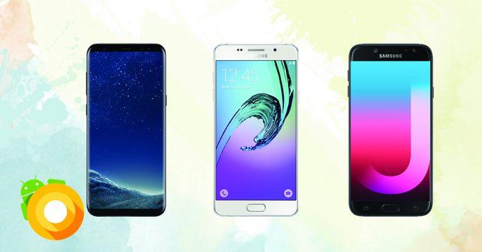 Samsung phones Android 8.0 Oreo