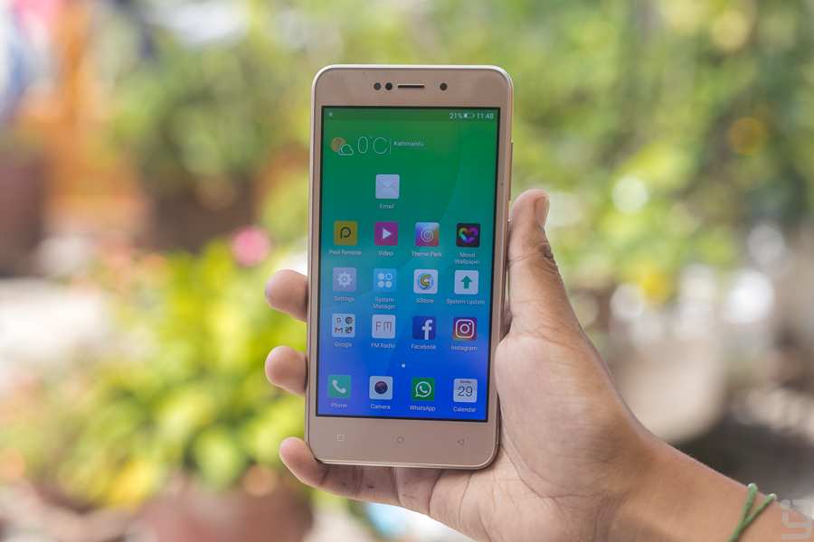gionee x1 review display