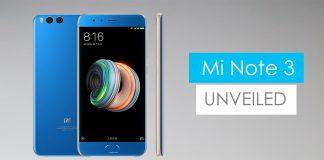 Xiaomi MI note 3 announced