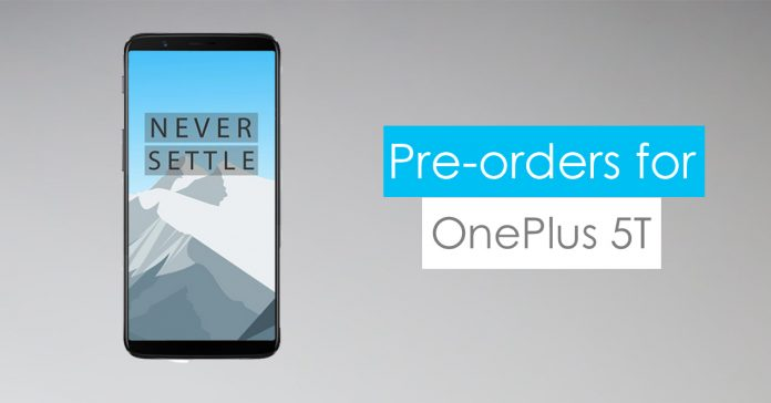 pre-orders for oneplus 5t