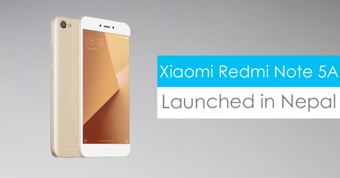 xiaomi redmi note 5a price in nepal