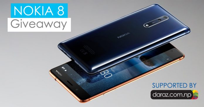 Nokia 8 grand giveaway - GadgetByte Nepal
