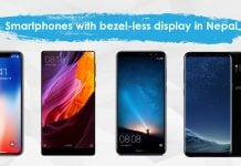 Smartphones with bezel-less display in Nepal