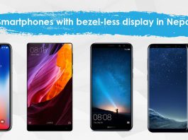 Smartphones with bezel-less display in Nepal