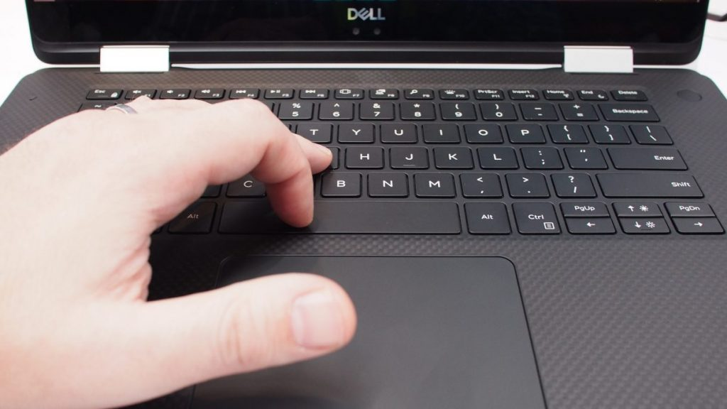 Dell XPS 15 2 in 1 maglev keyboard