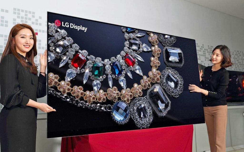 LG 88 inch 8k OLED display tv - lg ces 2018