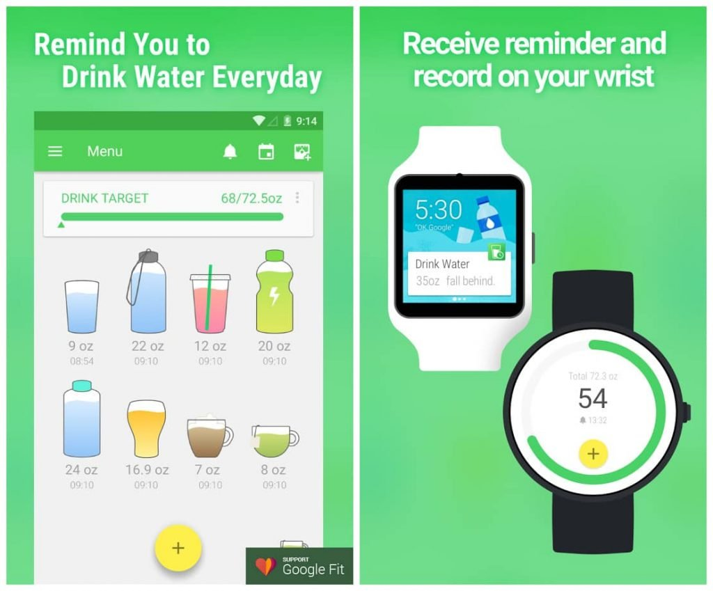 Water Drink Reminder app review - Best health and fitness app
