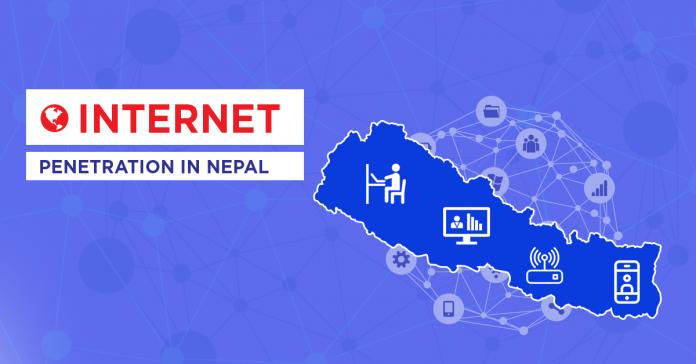 internet penetration nepal