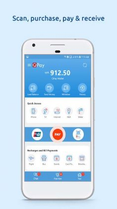 QPay Digital Wallet Home Screen Ad on Play Store