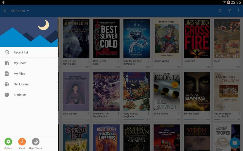 moon plus reader app