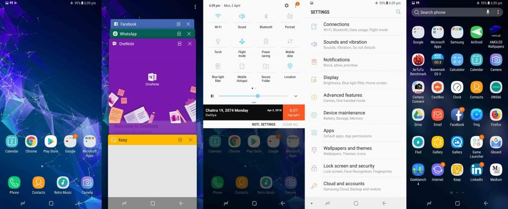 Galaxy A8+ 2018 Experience UI 8.5 Androi Version 7.1 Nougat