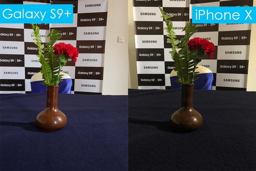 samsung galaxy s9 review galaxy s9+ vs iPhone X night mode comparison