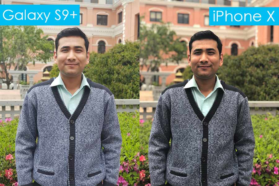 samsung galaxy s9 review galaxy s9+ vs iPhone X portrait mode