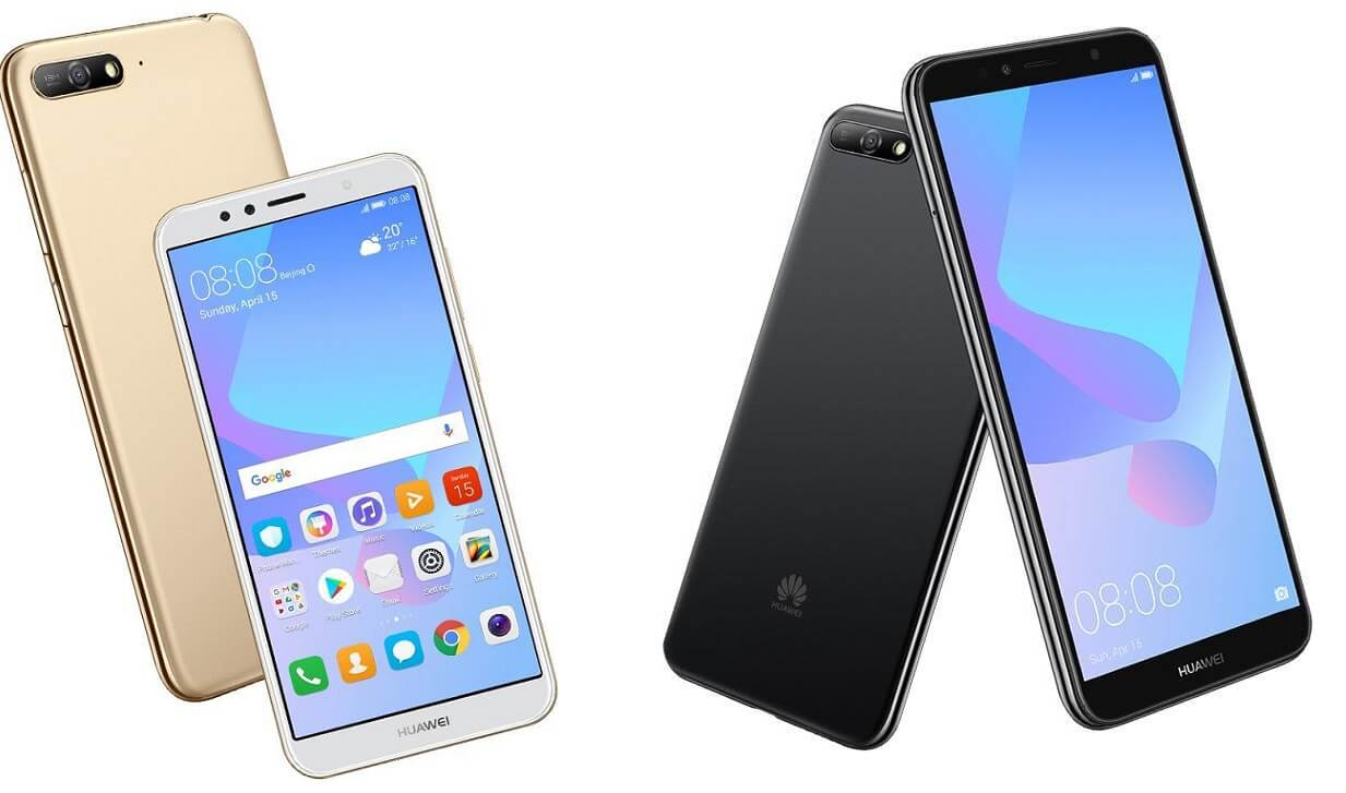 Huawei Y6 2018 colors options black gold