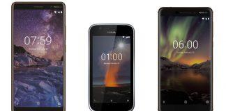 Nokia 6 2018   Nokia 7 Plus   Nokia 1