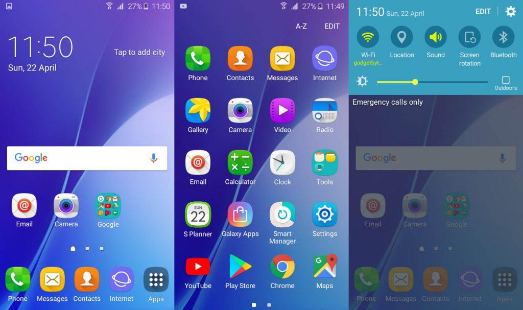 Samsung Galaxy j2 pro UI