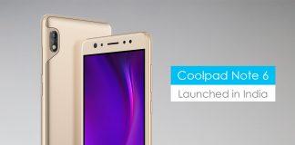 Coolpad Note 6 selfie lovers dual cameras snapdragon