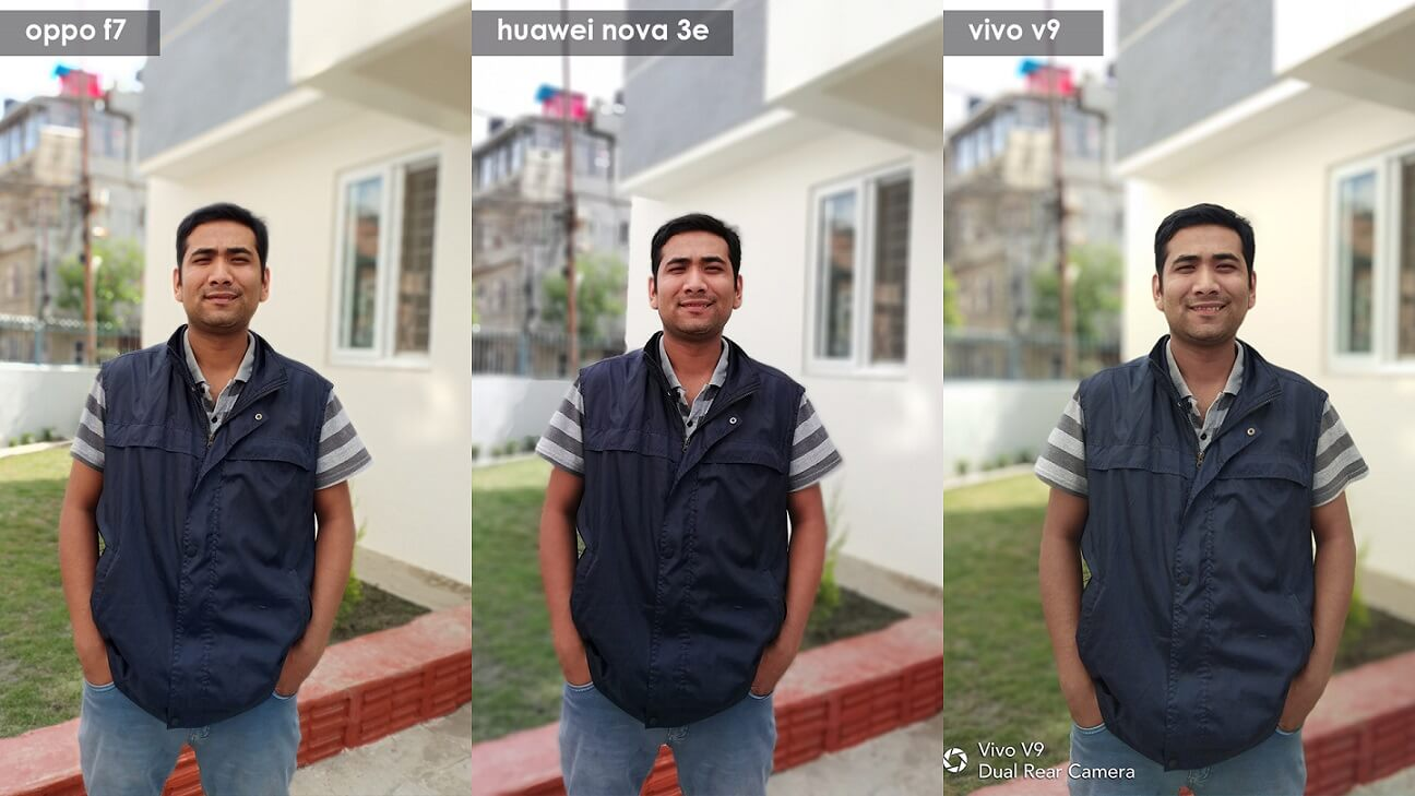 Portrait comparison oppo f7