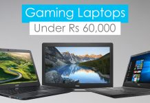 gaming laptops under rs 60000