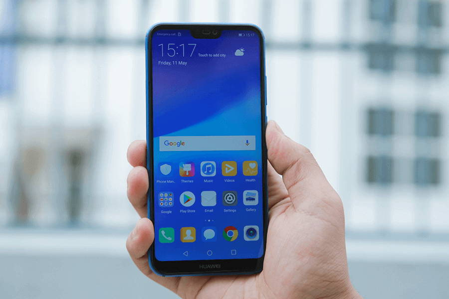 Huawei Nova 3e display design notch