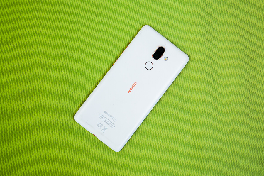 Nokia 7 Plus Back Design white color