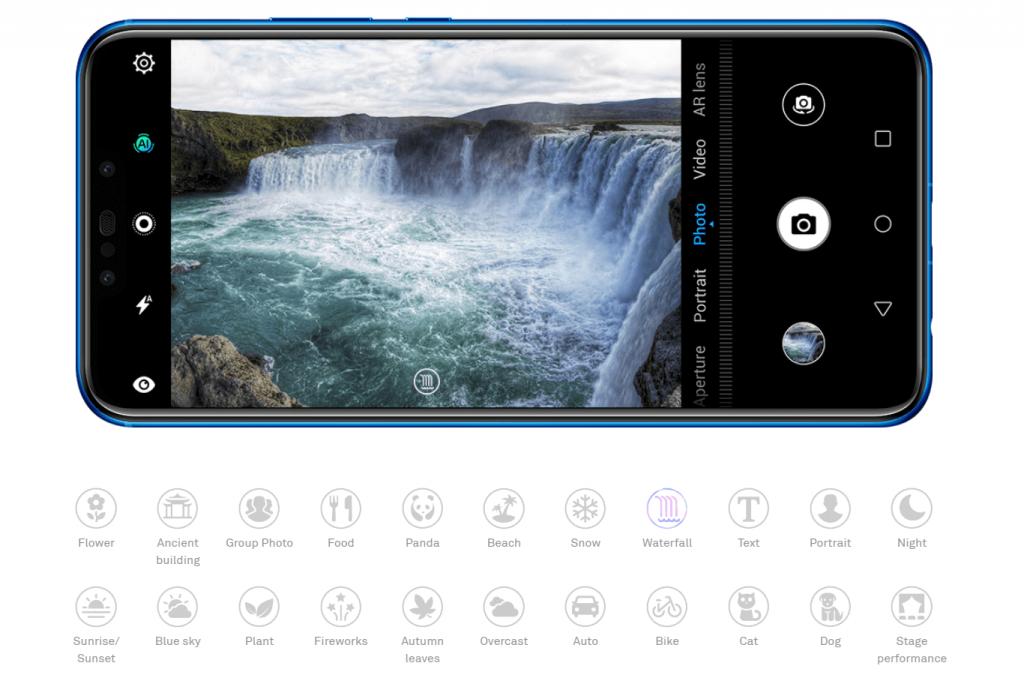 nova 3i camera modes