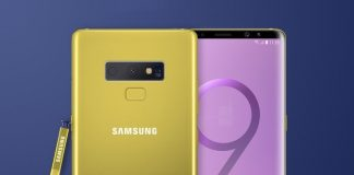 samsung galaxy note 9 Yellow