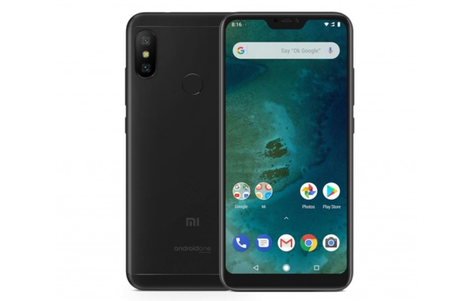 xioami mi A2 lite with 5.84 HD display with notch