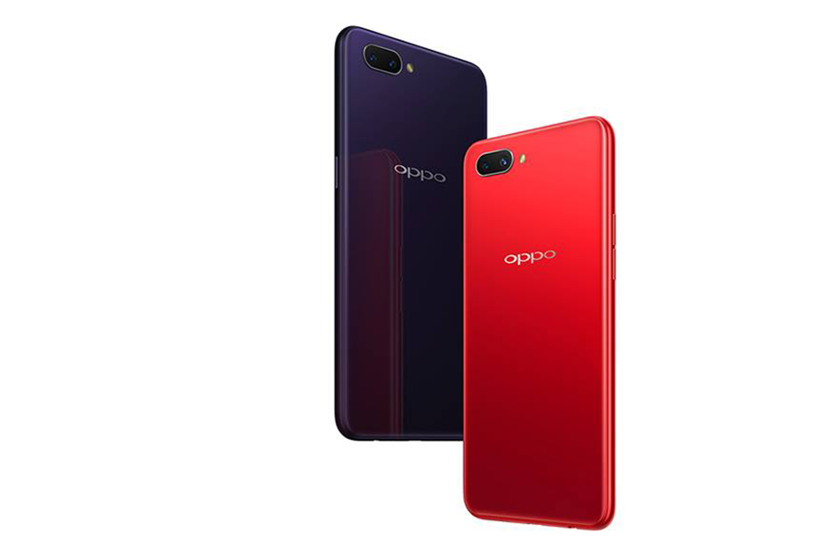Oppo-A3s-red-and-dark-purple