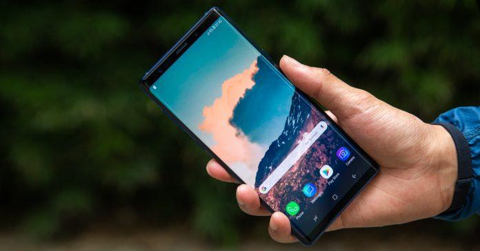 Samsuing Galaxy Note 9 display