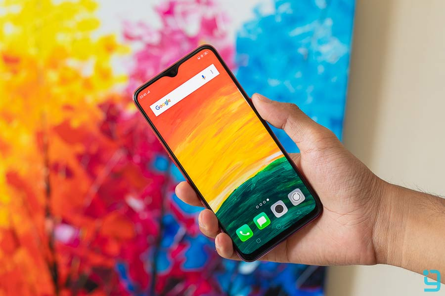 oppo f9 design display front view
