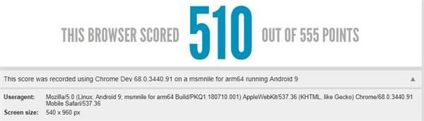 Snapdragon 855 HTML-scores