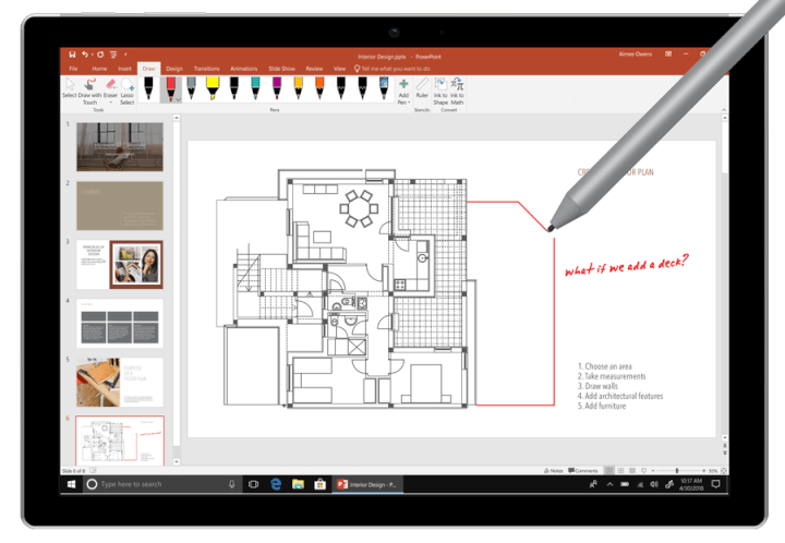office 2019 inking features