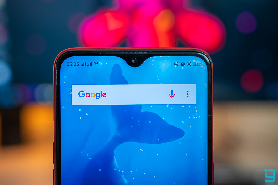 oppo f9 review front camera notch bezel