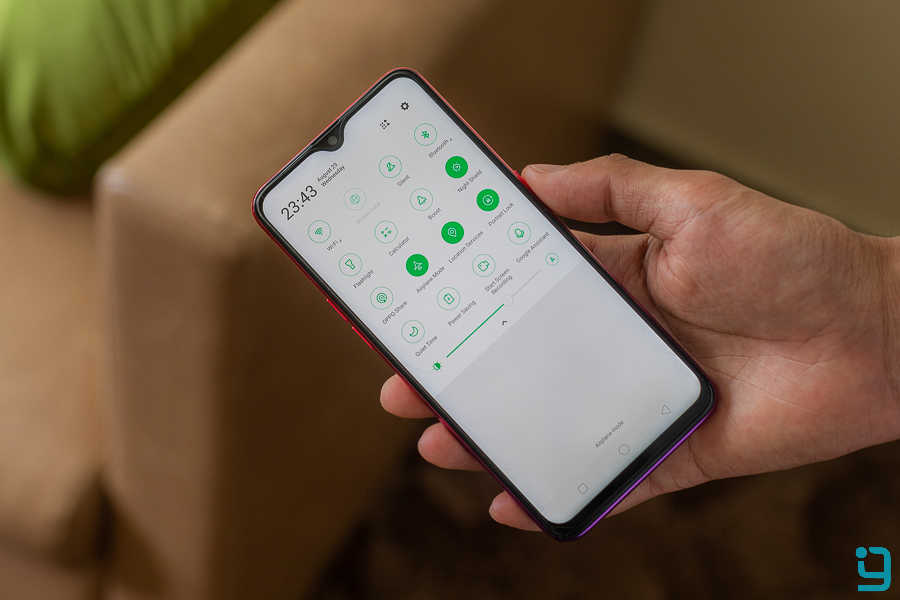 oppo f9 review software