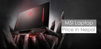 msi laptops price in nepal