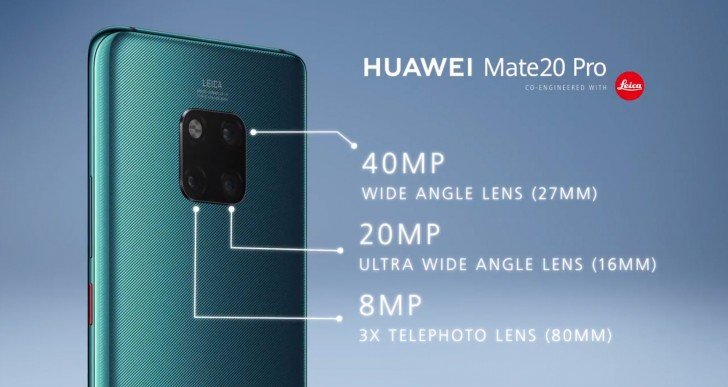 huawei mate 20 pro camera specifications