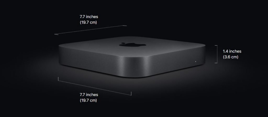mac mini 2018 dimensions