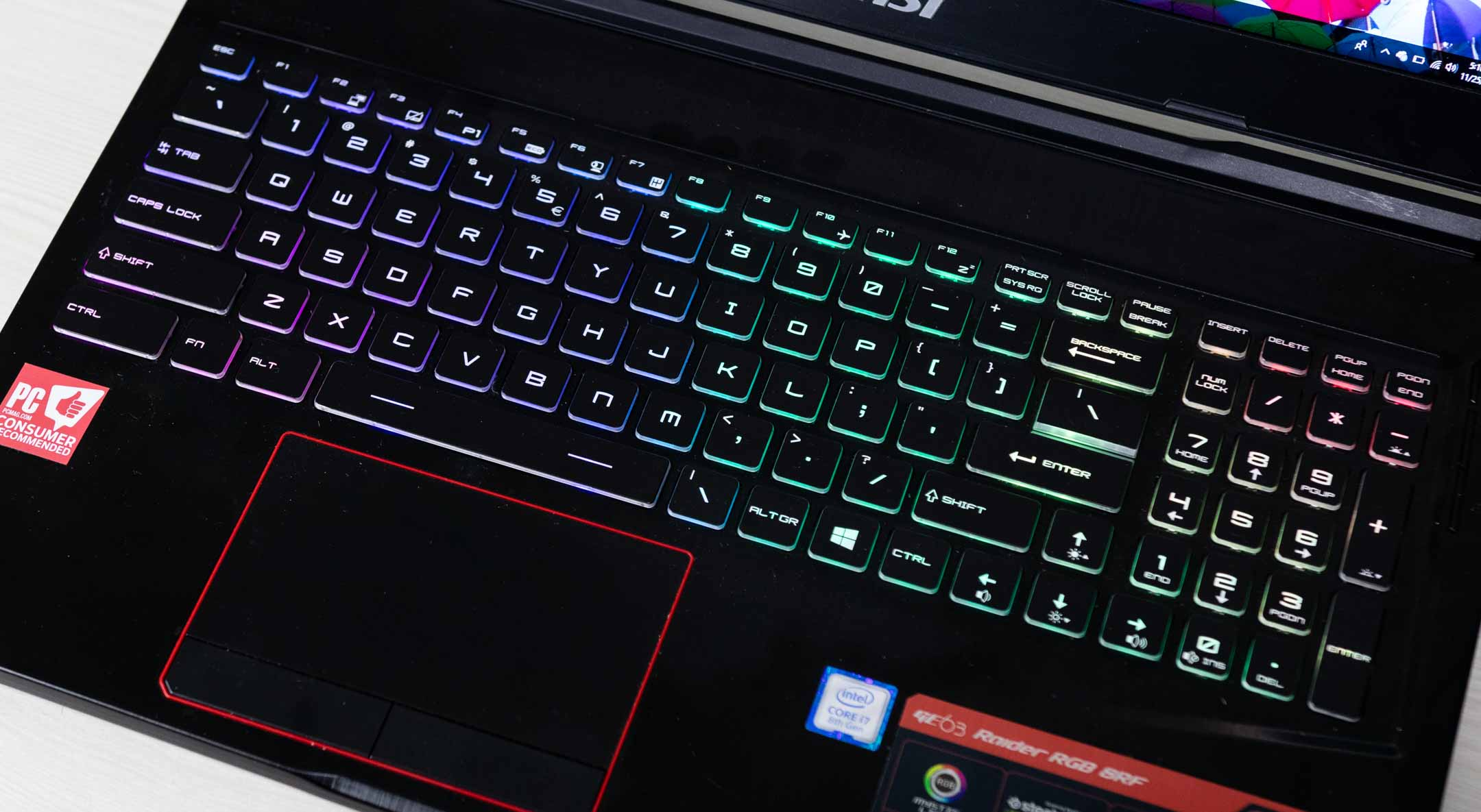 msi ge63 raider rgb 8rf keyboard